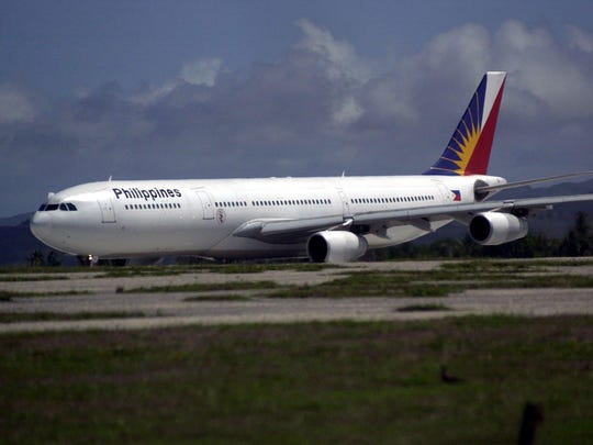 A Philippine Airlines aircraft gets ready to take off from the Guam International Airport in this file photo.