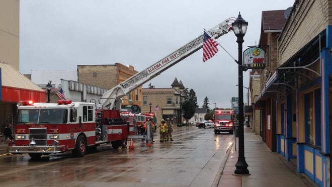 Fire crews responded just after 3 p.m. to Ape's Bar and Grill in Algoma.