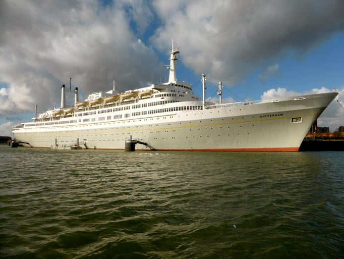 The former Holland America liner and cruise ship Rotterdam