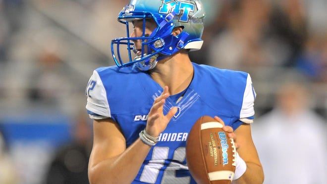 Middle Tennessee State quarterback Brent Stockstill (12) will square off against another prolific quarterback on Thursday in the Popeyes Bahamas Bowl.