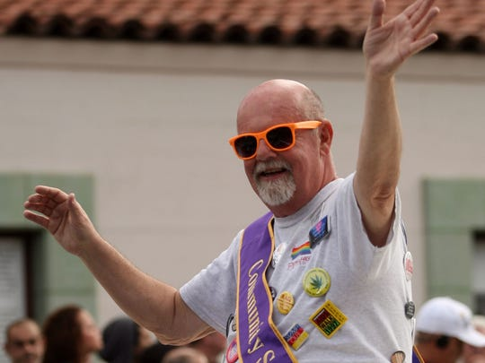 George Zander, shown riding in the 2011 Palm Springs Pride Parade, died in Dec. 2015. Greater Palm Springs Pride will honor his memory with a social justice award named after the longtime activist.
