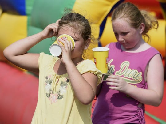Kids need to stay hydrated during times of extreme heat.