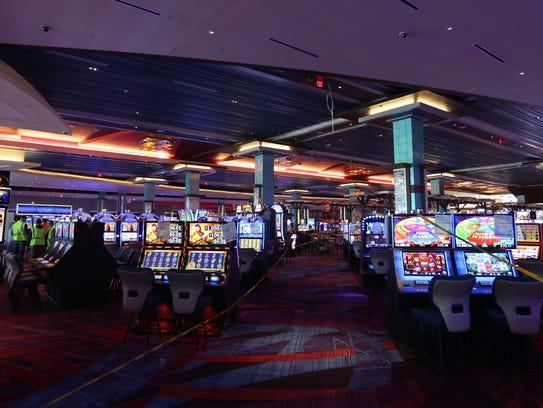 Gaming room at Resorts World Catskills casino, under