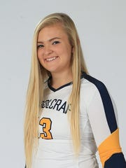 Sophomore co-captain Amanda Rybak, an alum of Livonia