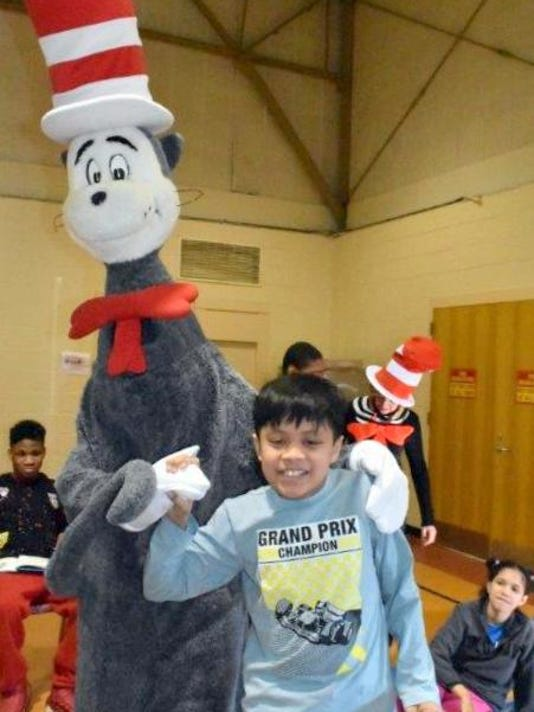 NJEA's Cat in the Hat visits school PHOTO CAPTION