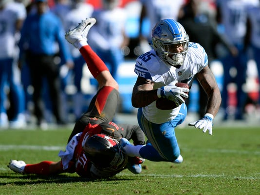 Detroit Lions at Tampa Bay Bucs, Eric Ebron, Chris Conte