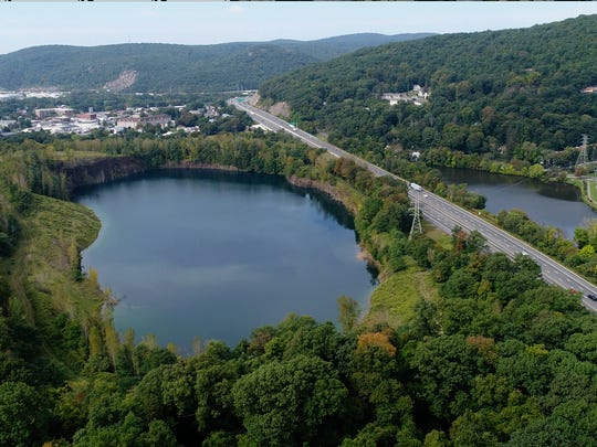 This quarry and pond is part of the former Novartis site in Suffern Sept. 21, 2017.