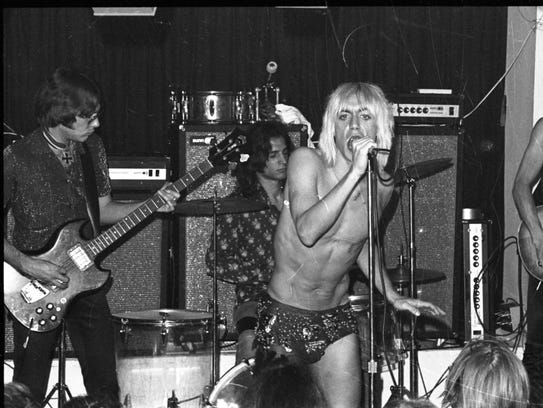 The ever-shirtless Iggy Pop and The Stooges are the