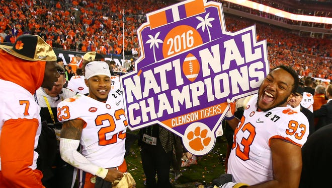 Clemson celebrates its national title.