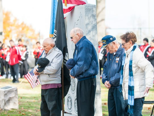 Veterans, their families, community members and local