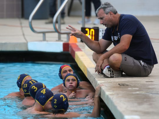 La Quinta water polo during their game with Yorba Linda