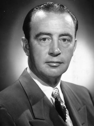 Eli Lilly vice president of marketing Forrest Teel in 1954 photo.