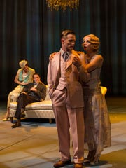 Teagan Rose, Zach Kenney, Matt Schwader and Hillary Clemens in IRT's 2015 production of The Great Gatsby.