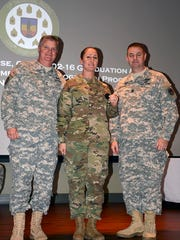 Staff Sgt. Nicole Bourgeois, a small group leader at