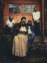 The Alabama Shakes play at the U.S. Cellular Center on April 26.