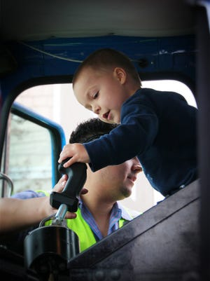 This February 2014 photo taken by Arnell Elegue and provided by the Make A Wish Foundation shows Ethan Dean in Rancho Cordova, Calif. Dean, 6, who has cystic fibrosis, will have his dream to be a garbage man come true with help of the Make-A-Wish Foundation. Dean will ride along on a garbage truck collecting trash at various locations in Sacramento, Calif., Tuesday, July 26, 2016.