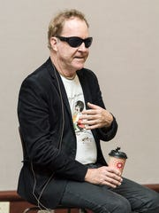 Fred Schneider of The B-52s being interviewed by Dave