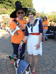 UT Gardens director Sue Hamilton along with Mallory Huff and Cleo at their annual Howl-O-Ween.