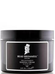 Beau Brummell Shaving Cream will baby your baby's skin.