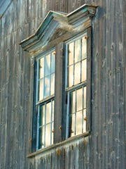 A lazy W window molding, the signature of a Wells barn.