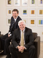 Withum CEO Bill Hagaman and Withum partner Jim Hannan in the company's New Brunswick office.
