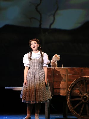 "Twenty-year-old Delhi native Kalie Kaimann, performing the leading role of Dorothy in a national tour of ""The Wizard of Oz."""
