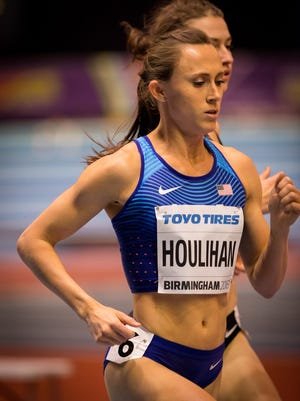 Shelby Houlihan, at the IAAF World Indoor Championships.