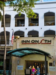 The Inn on 5th, located at 699 Fifth Avenue South in the heart of downtown Naples, is an upscale hotel with a rooftop pool.