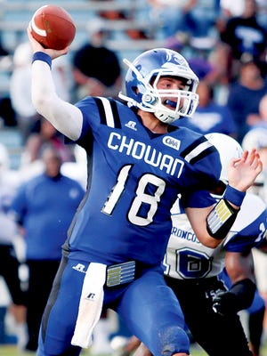 Chowan quarterback Bryce Witt has been handed the keys to the Hawks' offense.