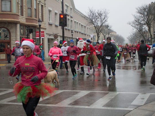 The Santa Run is a 5K that begins and ends at 337 W.