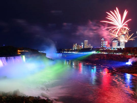 The Winter Festival of Lights at Niagara Falls includes
