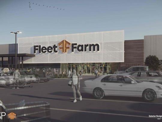 Rendering of Mills Fleet Farm's Sioux Falls location.