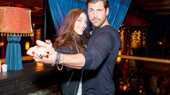 Maksim Chermkovisky and Meryl Davis Dancing at TAO Downtown