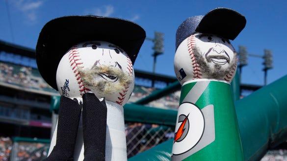 USP MLB: CLEVELAND INDIANS AT DETROIT TIGERS S BBA DET CLE USA MI