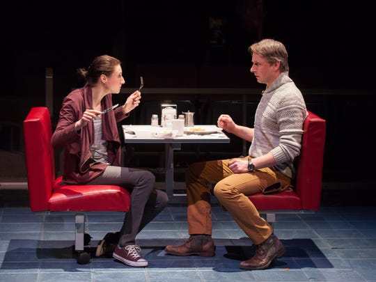 """Renata Friedman and Todd Lawson in Steven Dietz's new work """"This Random World,"""" part of the 2016 Humana Festival of New American Plays at Actors  Theatre of Louisville."""