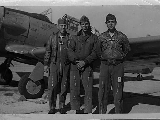 Student Officers Eugene G. Aldridge, left, Edward A.