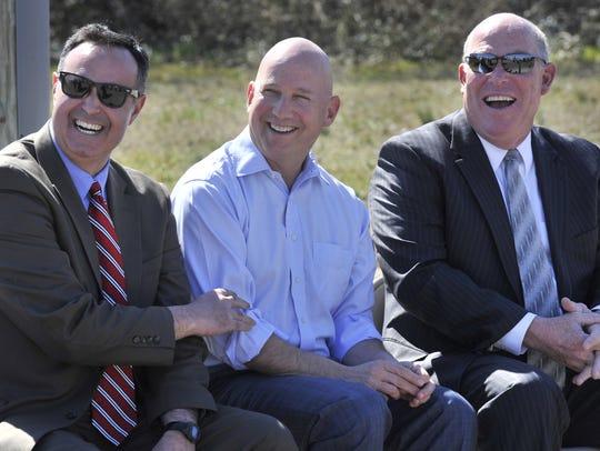 From left:  Delaware Senator Ernie Lopez, Governor