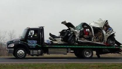 Lanes on both sides of Interstate 65 were blocked for several hours after three tractor-trailers and seven passenger vehicles collided, killed three and injured others.