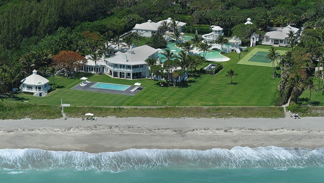 The price has been lowered on the home owned by Celine Dion on Jupiter Island.