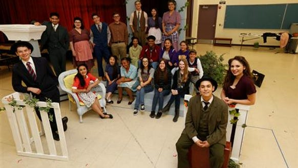 Burges High School's one-act theater troupe received