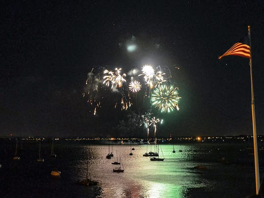 The joint fireworks of Perth Amboy and South Amboy