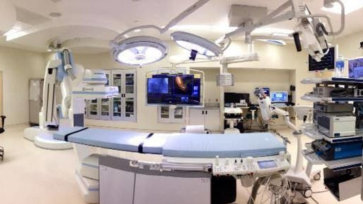 As of June 5, Palm Beach Gardens Medical Center and five other Tenet Healthcare Palm Beach Health Network hospitals allow one designated support person to accompany elective surgery, pediatric and maternity patients. Palm Beach Gardens' operating room is shown in this photo.