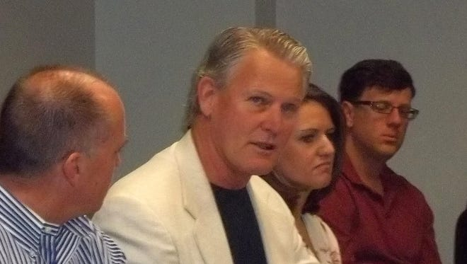 Dave Asher, of Buy Nevada First, at a recent Entrepreneurship Nevada meeting at EDAWN's offices.