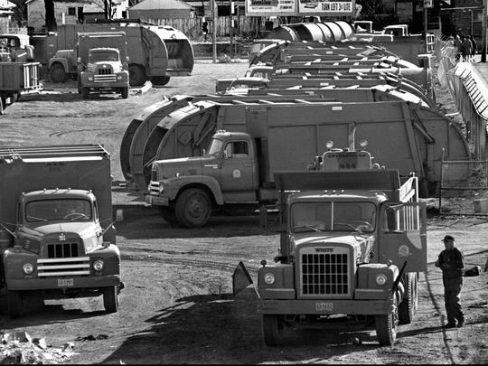 Memphis garbage trucks remained silent and unmanned Feb. 12, 1968 - the first day of a sanitation strike that would mix tragedy and triumph, death and dignity.  Almost 1,000 of the city's 1,100 sanitation workers did not report to work after discussions about wages and job conditions broke down between the city and Local 1733 of the American Federation of State, County and Municipal Employees. Sanitation laborers were paid $1.80 an hour and crew chiefs (truck drivers) $2.10 an hour. The minimum wage in 1968 was $1.60 an hour. Two weeks earlier, two sanitation workers were crushed to death in a garbage packer. Worker's compensation was not part of the job package.