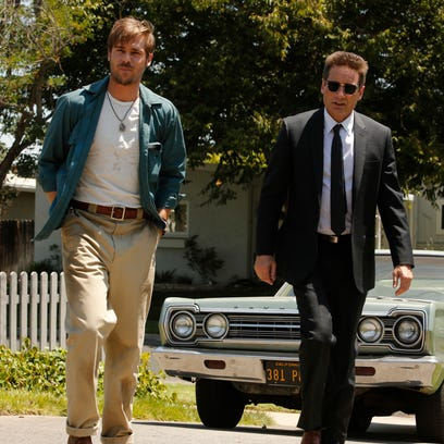 Grey Damon as Brian Shafe, left, and David Duchovny