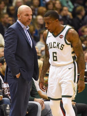 "Guard Eric Bledsoe considered Jason Kidd ""a No. 1 mentor"" between the time Bledsoe arrived from Phoenix and Kidd lost his job as Bucks head coach Monday."