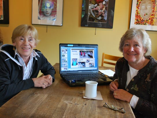 Colleen Haag (right) and Linda Gilbert (left) prepared