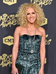Kimberly Schlapman of Little Big Town on the red carpet at the 2018 CMT Awards Wednesday, June 6, 2018, at Bridgestone Arena in Nashville, Tenn.