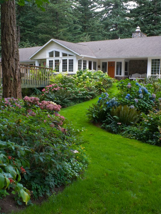 home surounded by Hydrangea gardens