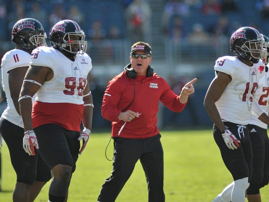 Louisiana-Lafayette Ragin Cajuns head coach Mark Hudspeth